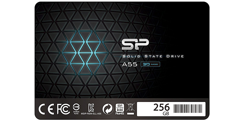 silicon power 256gb ssd 3d nand a55