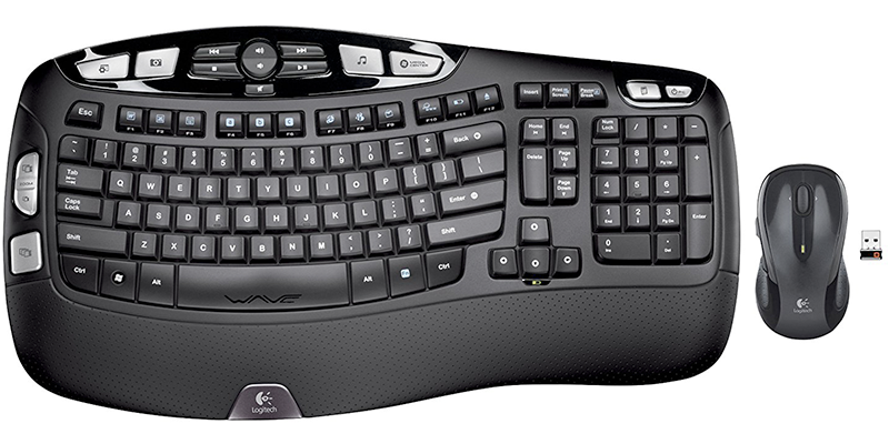 logitech mk550 wireless wave keyboard and mouse combo