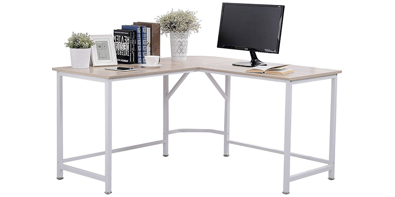 topsky l-shaped computer desk